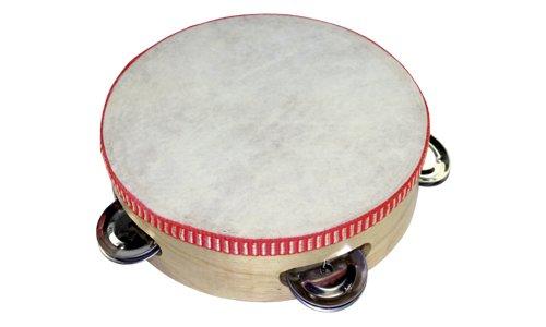 Holzspielerei TLM004-1B - Tambourine mit 4 Glocken