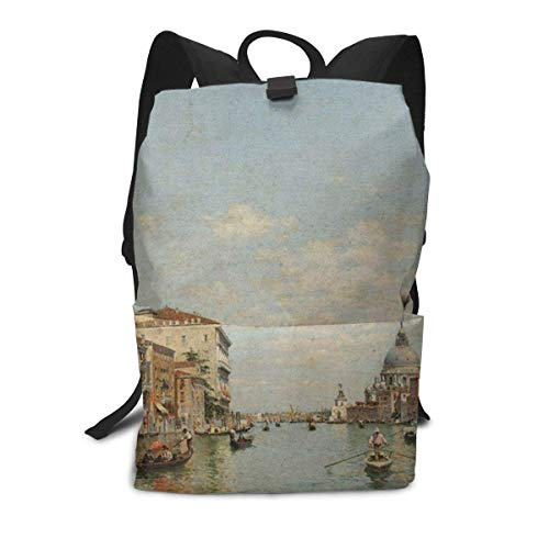 Blick auf den Canal Grande von Venedig Rucksack Mitte für Kinder Jugendliche Schule Reisetasche