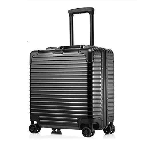 XDD Business 18 Zoll Computer Trolley Boarding Chassis Rollgepäck Passwort Koffer Hardshell 8-Rad Spinner Aufrechtes Gepäck für Frauen und Männer,A,43 * 42 * 20cm -