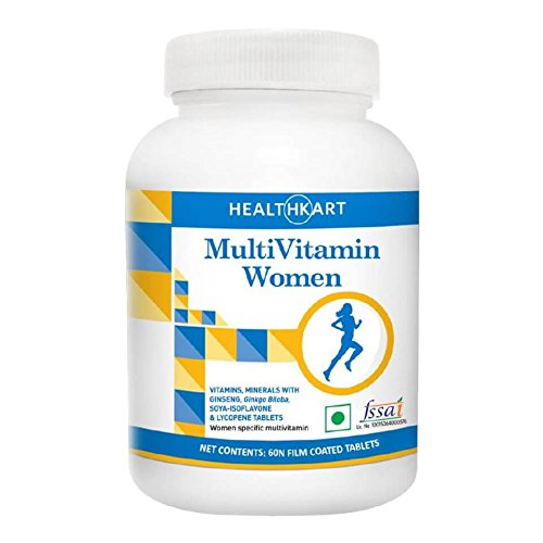 HealthKart multivitamin Women with Ginseng, Unflavoured 60 Veg Capsules  available at amazon for Rs.299