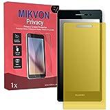 Lámina de protección Mikvon Privacy amarillo contra miradas laterales para Huawei Ascend P7 Arsenal Edition - PREMIUM QUALITY