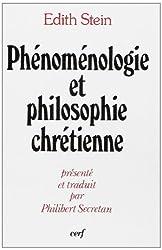 Phénoménologie et philosophie chrétienne
