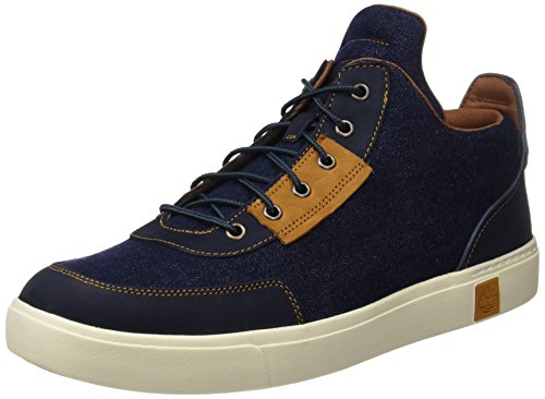 Timberland Amherst Hightopcanvaschkdark, Bottes Chukka Homme, Bleu (Dark Denim Canvas), 43 EU