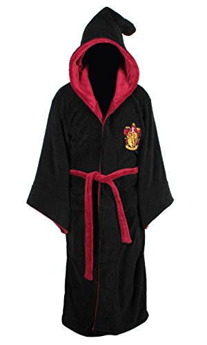 Harry Potter All Houses Bademantel mit Kapuze, Fleece, Einheitsgröße Gr. One Size, Gryffindor