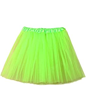 Mujer Adultos Mini Falda de Ballet Skirt Princesas Tutú de Tul para Baile Disfraces Fotografía Fiesta Despedida...