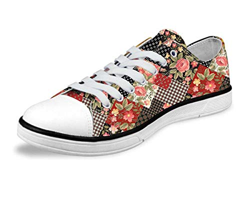 Womens Light Weight Low Top Trainers Shoes Casual Canvas Sneakers Walking Pumps CA4694AP floral Women's US 8 \u002F EU 38 (Dillards Schuhe Für Frauen)