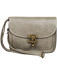 Mei&ge PU Leather Stylish Sling Bag / Purse For Women & Girls, Color - Grey (1228)