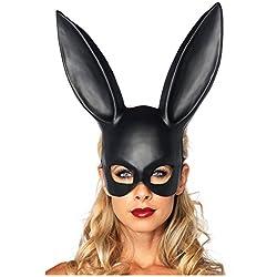 51ZMT- Bar, KTV Halloween disfraz de fiesta, máscara orejas de conejo, máscara de conejo de Pascua