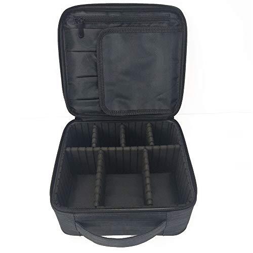 Jxth Vanity Case Cosmetic Urban Beauty Box Support de Brosse de Caisse cosmétique de Voyage de Sac imperméable de Maquillage avec Le diviseur réglable Étui à cosmétiques Voyage Porter Cadeau