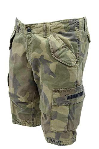 Aeronautica militare bermuda uomo be076ct camouflage con tasche taglia 50