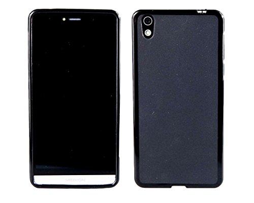 caseroxx Hülle/Tasche TPU-Hülle schwarz + Displayschutzfolie für Medion Life X5004 MD 99238, Set bestehend aus TPU-Hülle und Displayschutzfolie