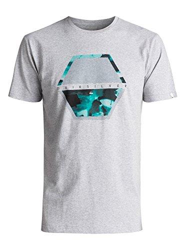 Quiksilver Classic Comfort Place - T-Shirt - T-Shirt - Männer - L - Grau