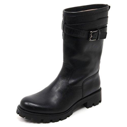 B7696 anfibio donna UNISA IBIS biker scarpa nero boot shoe woman Nero