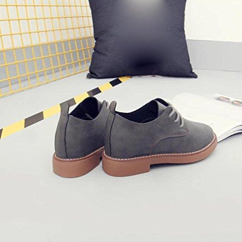 FEITONG Frauen Frühlings Flache Ferse Schuhe Beiläufige Schuhe Spitze Schuhe Grau