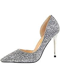 ZHRUI 2018 Verano Mujeres Bombas Extrem Sexy Tacones Altos Señoras Clásicos  Bling Zapatos Talones Finos Zapatillas 4a920f02972e