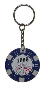Jeton de Poker Porte-Clés Bleu (Blue Poker Chip Keyring)