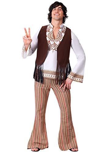 Men's Woodstock Hippie Fancy Dress Costume X-Large (Men's Woodstock Kostüme)