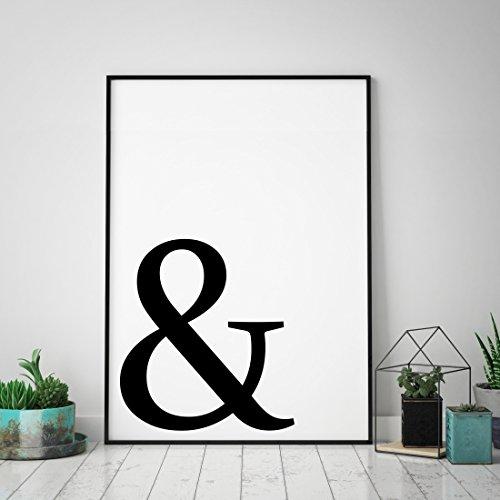Typo Poster: Ampersand / UND / & / ET-Zeichen, schwarz-weiß -