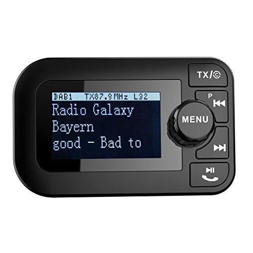 elobeth für KFZ DAB/DAB + Radio Bluetooth FM Transmitter Deut DAB Digital Radio Wireless FM Adapter Freisprecheinrichtung Call für Smartphones
