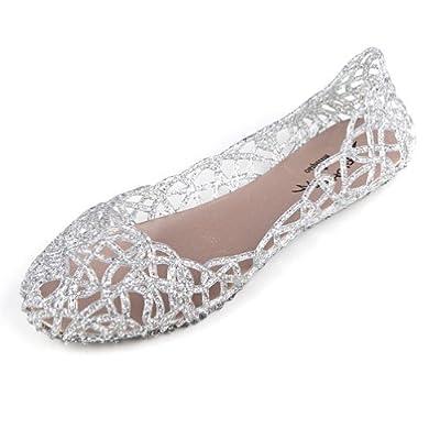 Hee Grand Damen Ballerinas Espadrille Schuhe 40 Silber
