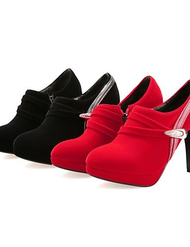 CU@EY Da donna-Stivaletti-Casual-Anfibi-A stiletto-PU (Poliuretano)-Nero / Rosso red-us5.5 / eu36 / uk3.5 / cn35