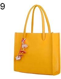 e9bfde60cc Bangle009 Clearance Sale Women  s Sweet Candy Colors Flowers Faux Leather  Zipper Shoulder Bag