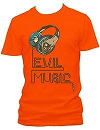 Evil music Cooles Party Herren Shirt