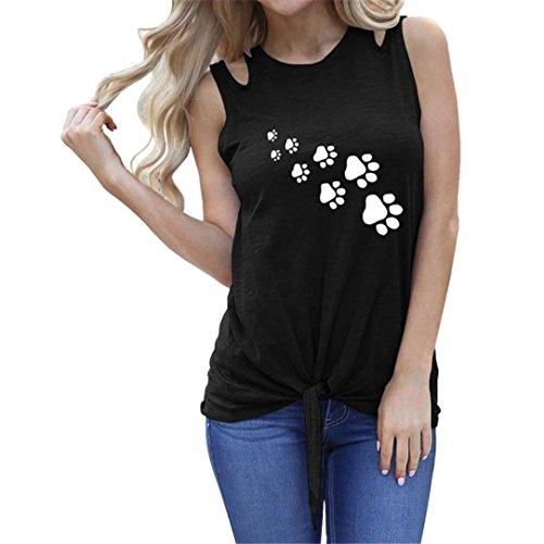 ESAILQ Damen Basic V-Ausschnitt Kurzarm T-Shirt Falten Tops mit Knopf(M,Schwarz)