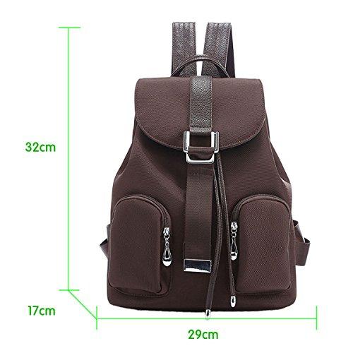 9807ee7160db5 ... Panegy Damen Mädchen Mode Schulrucksack Zwei Tasche-Rucksack Canvas  Schultasche Leinwand Laptop Reisen einfach Rucksack ...