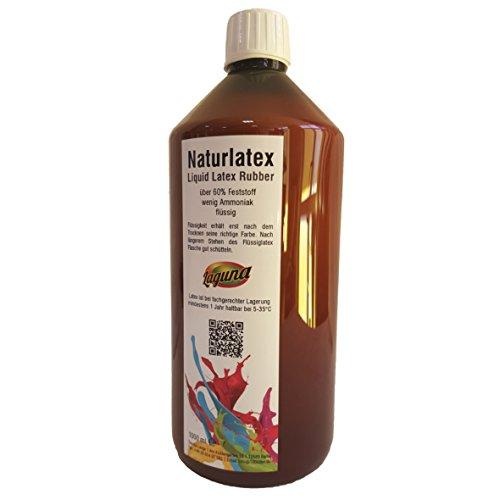 r liquid latex Latexmilch, naturfarben, 1000ml Naturgummi flüssig, Latex, Gummimilch, Sockenstopp, Halloween, Masken, Wunden, Narben ()