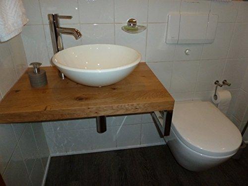 *Waschtisch Eiche massiv , Waschtischplatte Massivholz*