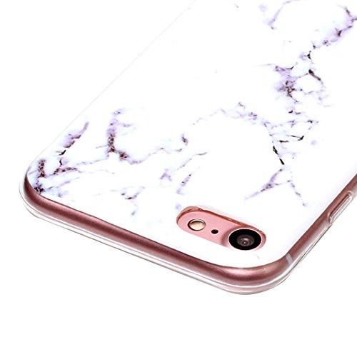 3 pcs Caso Soft per iPhone 7 / 8, Asnlove Morbida Elegante Custodia Ultra Sottile TPU Gomma Gel Cassa Motif di Colore Case Antiurto TPU Silicone Trasparente Cover Posteriore, Gruppo-4 Stile-11