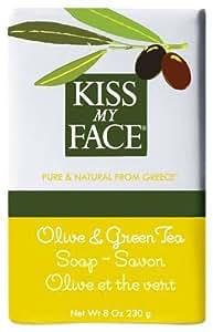 Kiss My Face Pain de Savon à l'Huile d'Olive et Thé Vert , 227 g