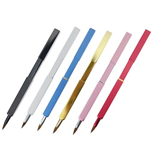 HLHN 1 Stück Tragbare automatische versenkbare Lippenbürste mit Deckel Eyeliner Pinsel