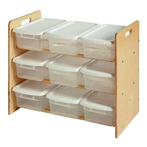 Nine Bin Toy Organizer by Little Colorado - Natural by