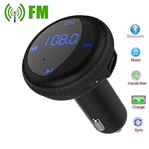 FM Transmitter Smart Auto Lokalisierer Wireless Auto mp3 Player Audio Radio Adapter freisprecheinrichtung Car Kit integriertem mit 5V/2.1A Dual Port USB Auto Ladegerät für iPhone 7/7 Plus/6s/6, Samsung Galaxy S7/S6/Note 5, LG, HTC, Nexus und mehr