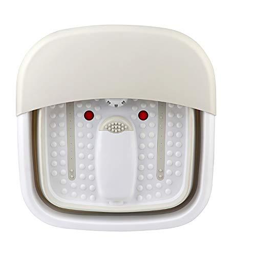 Fußmassagegerät Elektrische Falten Fernbedienung Thermostatische Blase Massage Tragbare Fußbad,Gray -