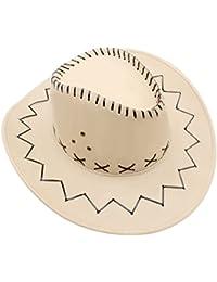 GHONLZIN Sombrero de Vaquero con Borde Ancho Sombrero al Aire Libre para Pesca, Senderismo, Safari, Viaje, Protección Solar de Verano