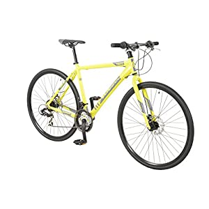 41va4Fo7LeL. SS300  - 700c Traffic Rigid DISC BIKE - Hybrid Road Bicycle FALCON (Mens) YELLOW 21 Speed