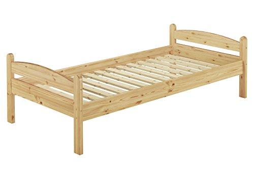 Erst-holz solo per legno 60.32–08letto singolo con roll ruggine–80x 200–legno massiccio naturale