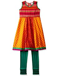 Elaisha Girls' Regular Fit Salwar Suit Set