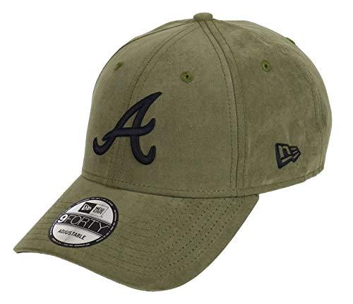 New Era Atlanta Braves New Era 9forty Adjustable Cap League Essential Nylon Green/Black - One-Size