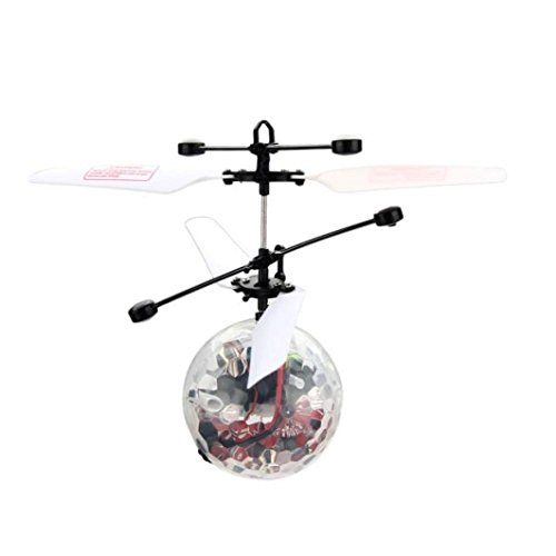 Overdose Flying Fliegen RC Ball Infrarot Induktion Mini Flugzeug Blinklicht Fernbedienung Spielzeug für (Kostüm Kran Spiel)