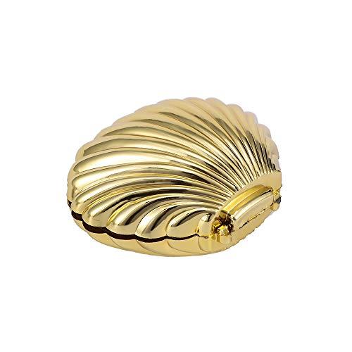DYHM schmuckaufbewahrung 1 Stücke Kreative Shell Shaped Tragetasche Schmuckschatulle Pralinenschachtel Multifunktionale Hochzeit Liefert Baby Shower Decor (Color : Gold)