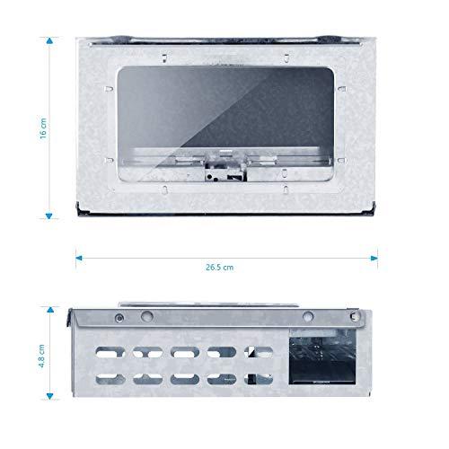 Multiple Catch Mouse Trap de vivants (couleurs: métal) avec fenêtre MAF5003CL