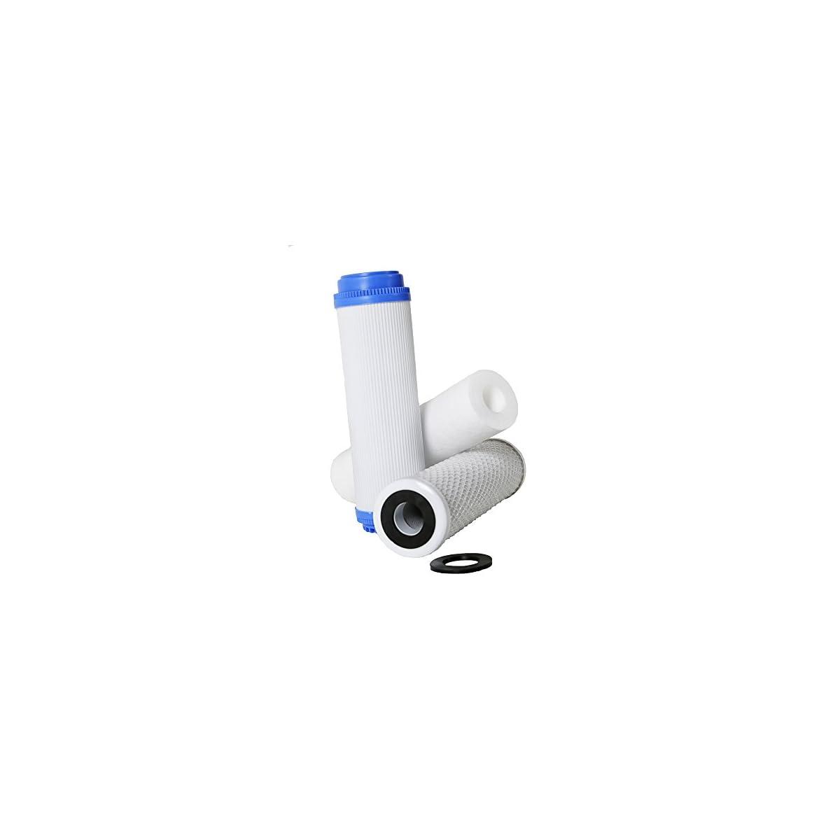 41va6ysbZ9L. SS1200  - Filtro Ósmosis Inversa 3 etapas, Estándar, Profesional, Garantizado, Compatible con todos los sistemas de ósmosis con vasos del mercado