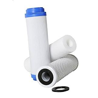 41va6ysbZ9L. SS324  - Filtro Ósmosis Inversa 3 etapas, Estándar, Profesional, Garantizado, Compatible con todos los sistemas de ósmosis con vasos del mercado