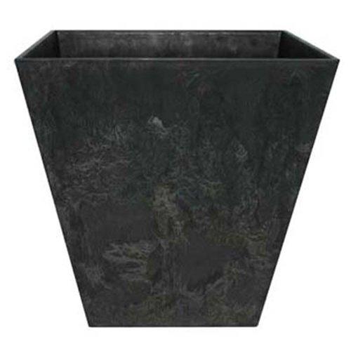 Ivyline Artstone Ella 107817 Pot de Fleurs carré Gris/Noir 25 x 24 cm