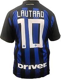 Camiseta Jersey Futbol Inter F.C Lautaro Martinez Replica Oficial  Autorizado 2018-2019 Niños (2 2228ac9105df4
