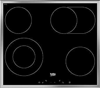 beko eb 9741 xhl plaques de cuisson en vitroc ramique 4 plaques touches tactiles cadre aluminium. Black Bedroom Furniture Sets. Home Design Ideas